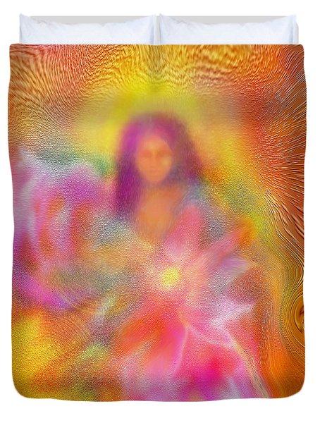 The Golden Deva Duvet Cover