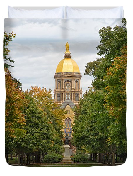 The Golden Dome Of Notre Dame Duvet Cover
