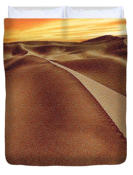 The Golden Hour Anza Borrego Desert Duvet Cover by Bob and Nadine Johnston