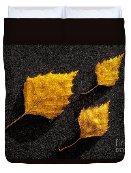 The Golden Leaves Duvet Cover by Veikko Suikkanen