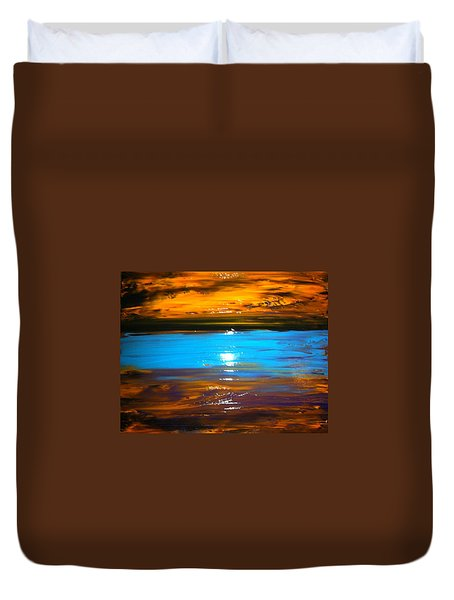 The Golden Sunset Duvet Cover by Kicking Bear  Productions