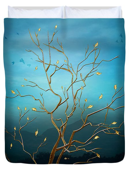 The Golden Tree Duvet Cover by Peter Awax