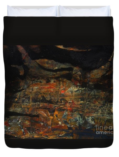 Duvet Cover featuring the painting The Good Earth 2 by Nancy Kane Chapman
