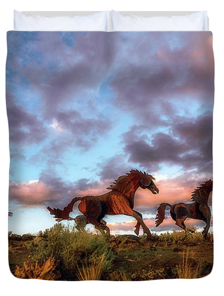 The Good Run Duvet Cover by James Heckt