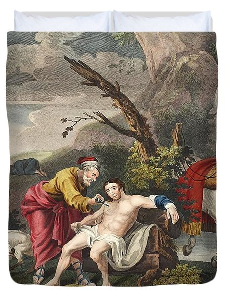 The Good Samaritan, Illustration Duvet Cover