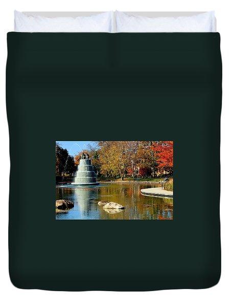 The Goodale Park  Fountain Duvet Cover