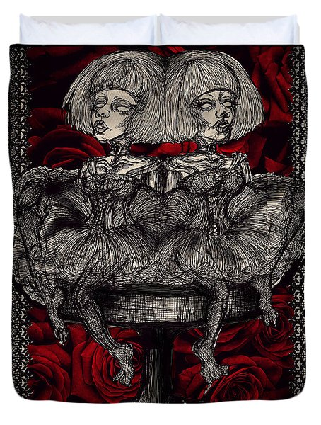 The Gothic Twin Girls Duvet Cover