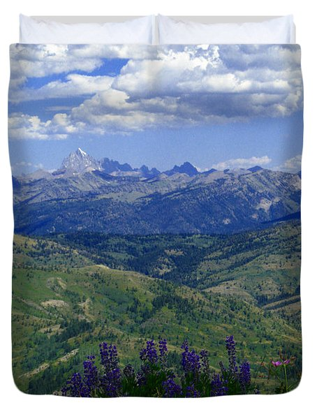 The Grand And Lupines Duvet Cover