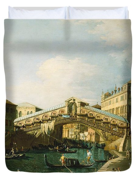 The Grand Canal   Venice Duvet Cover by Canaletto
