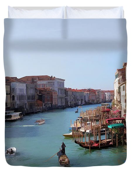 The Grand Canal Venice Oil Effect Duvet Cover