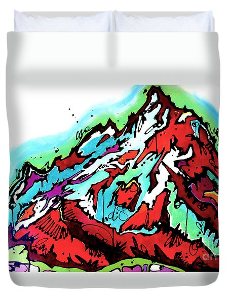 The Grand From Jackson Lake Duvet Cover by Nicole Gaitan