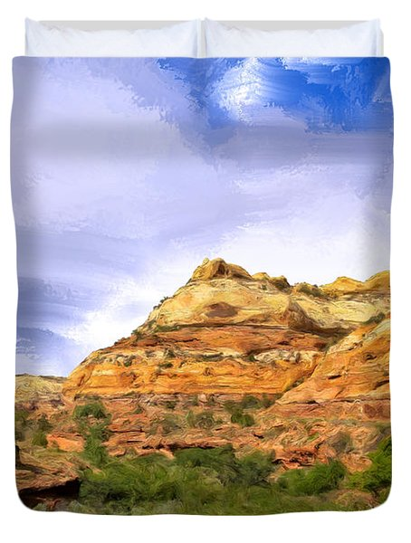 The Grand Staircase Duvet Cover