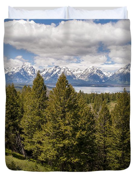The Grand Tetons From Signal Mountain - Grand Teton National Park Wyoming Duvet Cover