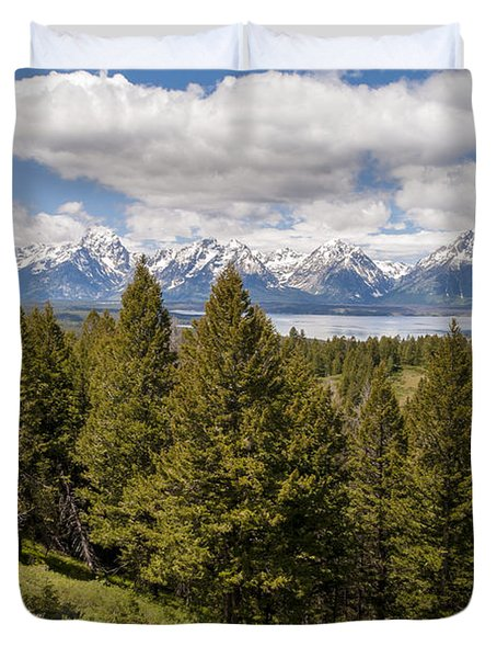 The Grand Tetons From Signal Mountain - Grand Teton National Park Wyoming Duvet Cover by Brian Harig