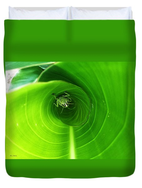 The Grasshopper Flush Duvet Cover by Rebecca Davis