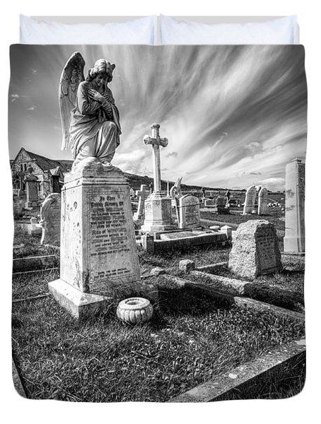 The Graveyard Duvet Cover by Adrian Evans