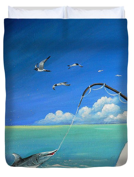 The Great Catch 1 Duvet Cover