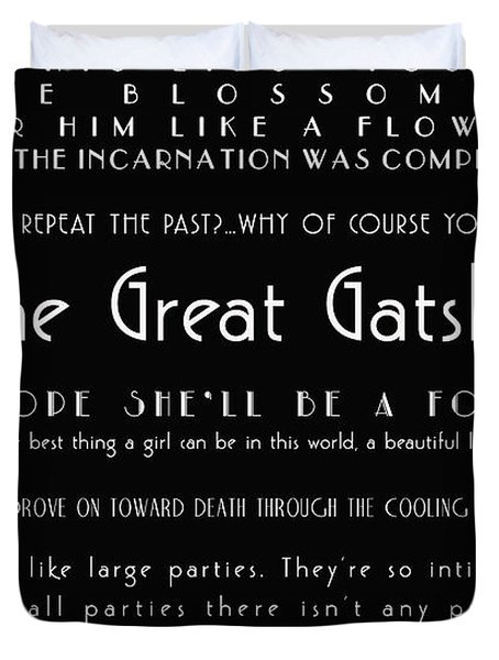 The Great Gatsby Quotes Duvet Cover