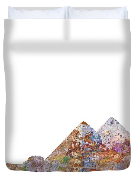 The Great Pyramids Colorsplash Duvet Cover