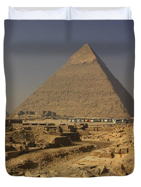 The Great Pyramids Of Giza Egypt  Duvet Cover by Ivan Pendjakov