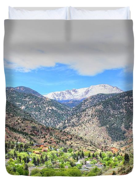 The Great White Shining Mountain Duvet Cover