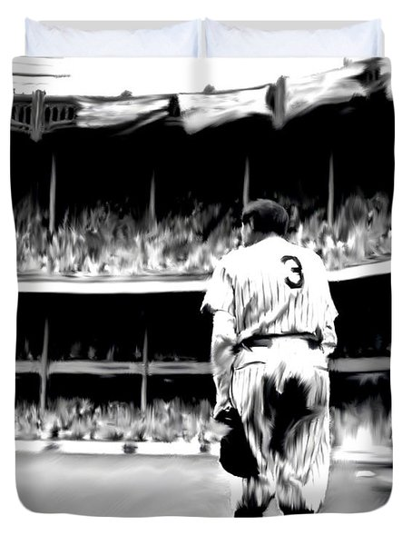 The Greatest Of All  Babe Ruth Duvet Cover by Iconic Images Art Gallery David Pucciarelli