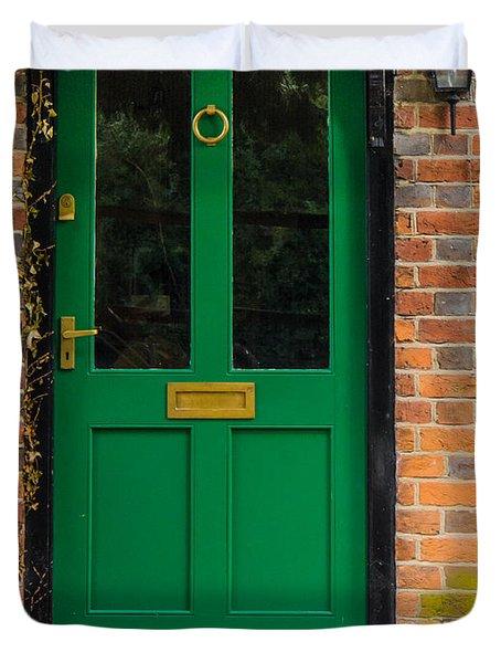 The Green Door Duvet Cover by Mark Llewellyn
