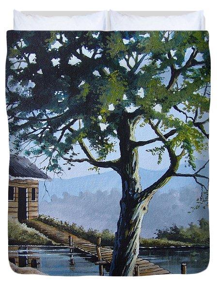 The Green Tree Duvet Cover