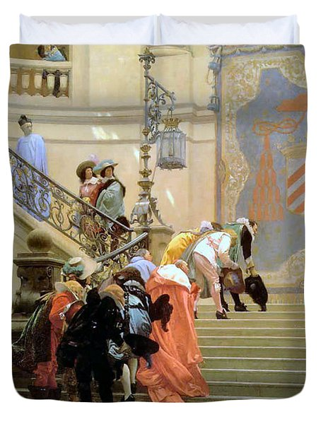 The Grey Cardinal Duvet Cover by Jean Leon Gerome