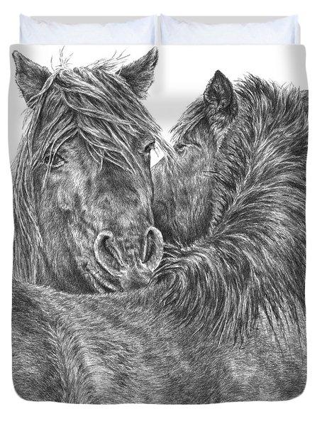 The Groom - Chincoteague Pony Print Duvet Cover
