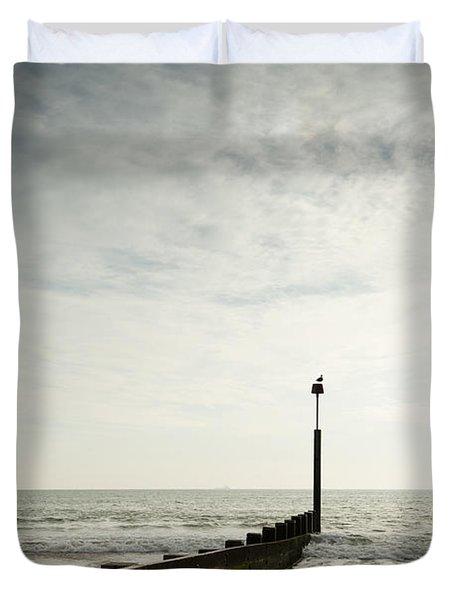 The Groyne Duvet Cover by Anne Gilbert