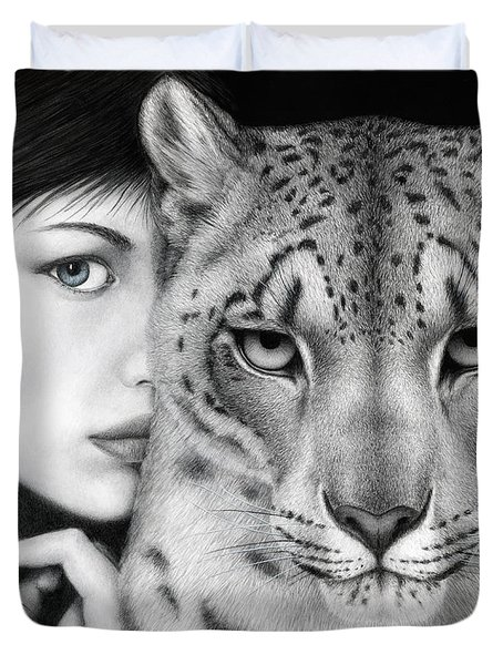 The Guardian Duvet Cover by Pat Erickson