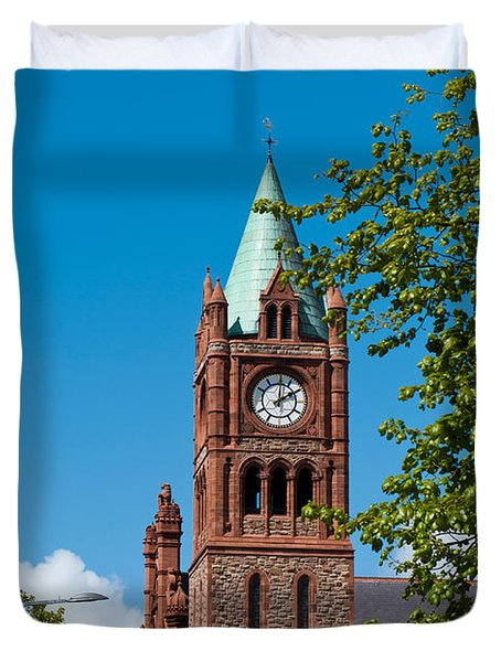 The Guildhall Duvet Cover by Luis Alvarenga