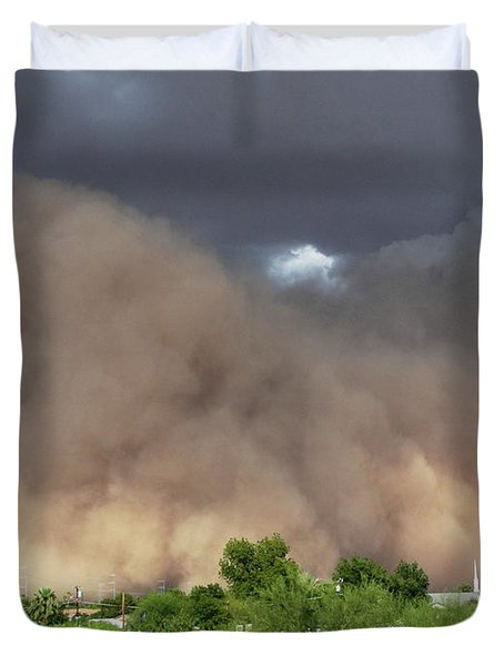 The Haboob Is Coming Duvet Cover