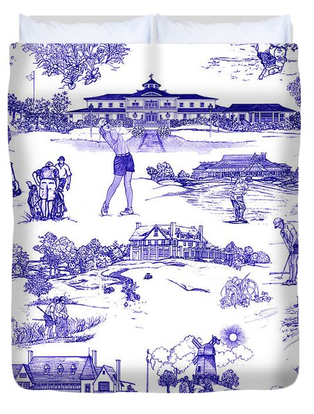 The Hamptons Historical Golf Courses Duvet Cover