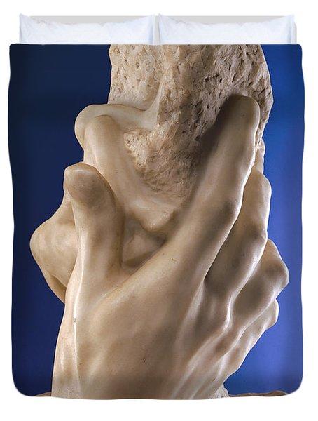 The Hand Of God, 1898 Marble Duvet Cover