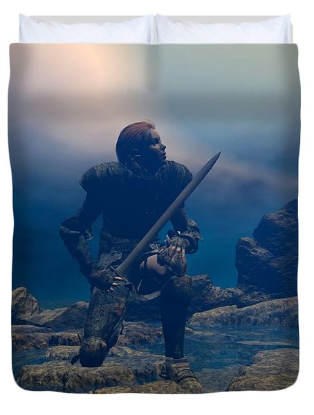 The Hand Of God On Your Head Duvet Cover