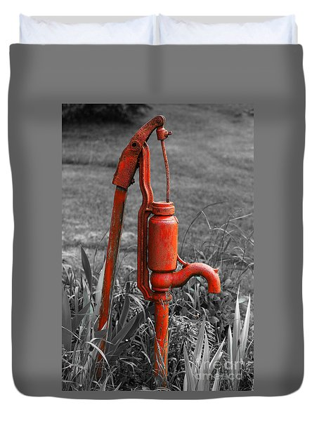 The Hand Pump Duvet Cover by Barbara McMahon