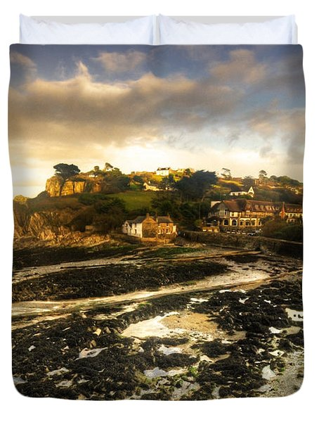 The Harbour At Lee  Duvet Cover by Rob Hawkins