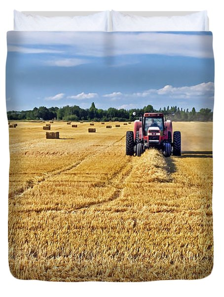 Duvet Cover featuring the photograph The Harvest by Keith Armstrong