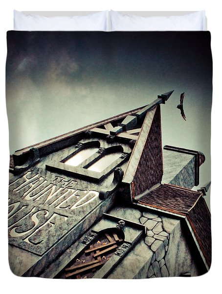 The Haunted House  Duvet Cover by Eti Reid