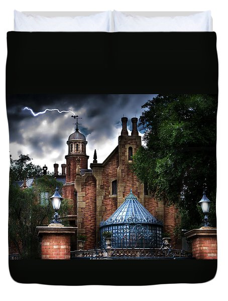 The Haunted Mansion Duvet Cover by Mark Andrew Thomas