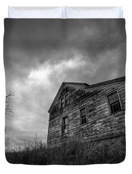 The Haunted Duvet Cover by Michael Ver Sprill