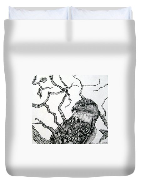 The Hawk Duvet Cover by Alison Caltrider