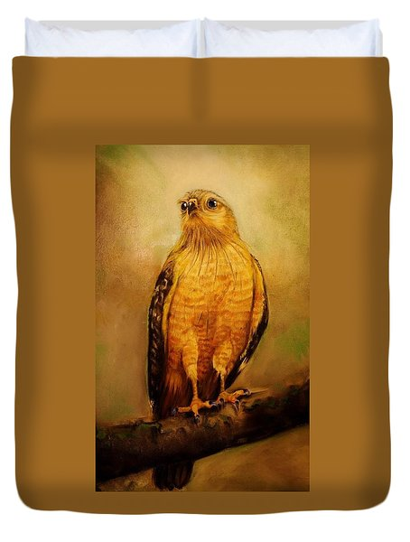 The Hawk Duvet Cover by Jean Cormier