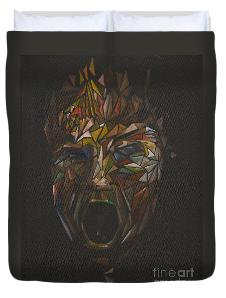 The Head Of Goliath - After Caravaggio Duvet Cover