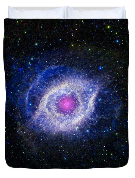 The Helix Nebula Duvet Cover by Adam Romanowicz