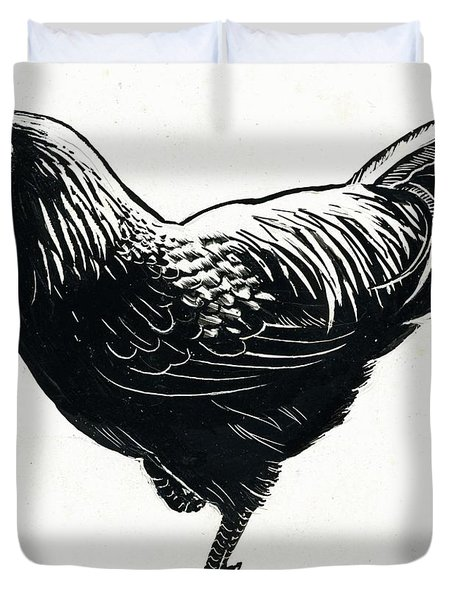 The Hen Duvet Cover by George Adamson