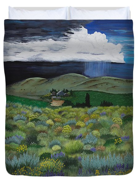 The High Desert Storm Duvet Cover