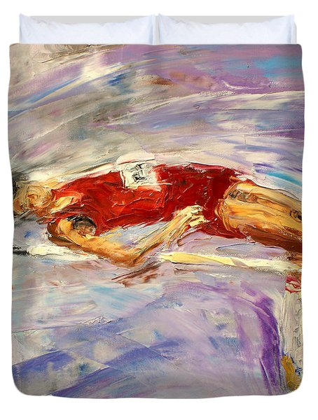 The High Jump Duvet Cover